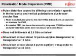 polarization mode dispersion pmd