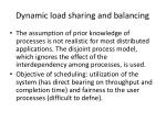 dynamic load sharing and balancing