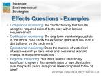 effects questions examples