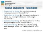 status questions examples