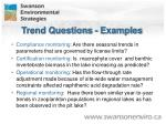 trend questions examples