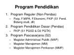 program pendidikan