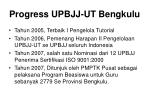 progress upbjj ut bengkulu