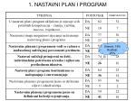 1 nastavni plan i program
