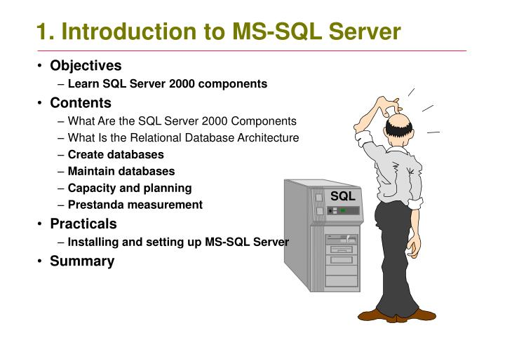 1 introduction to ms sql server n.