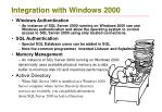 integration with windows 2000