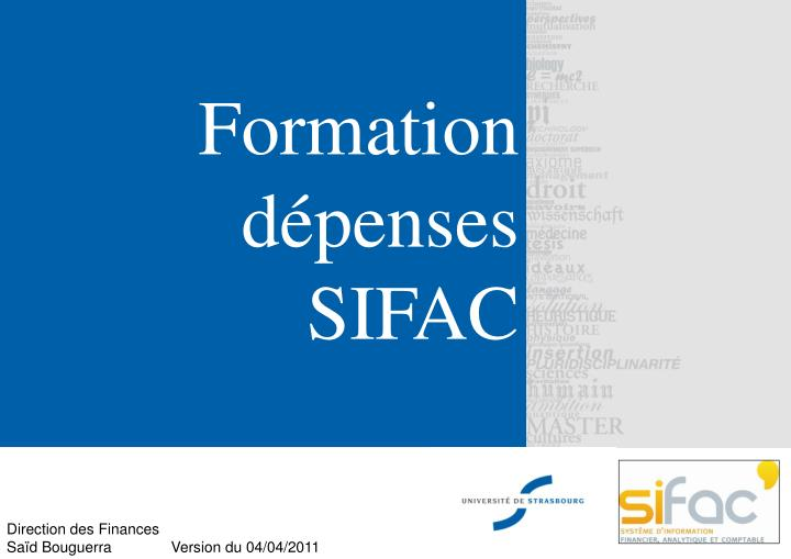 formation d penses sifac n.