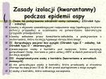 zasady izolacji kwarantanny podczas epidemii ospy