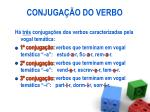 conjuga o do verbo