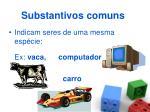 substantivos comuns