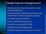 7 simple steps for getting started