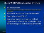 check whi publications for overlap