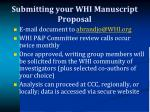 submitting your whi manuscript proposal