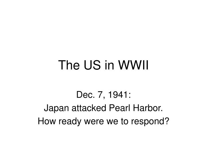 the us in wwii n.