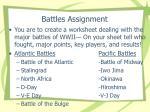 battles assignment