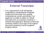 external transcripts