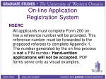 on line application registration system3