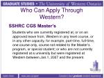 who can apply through western3