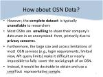 how about osn data