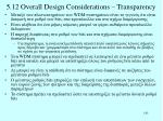 5 12 overall design considerations transparency