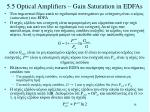 5 5 optical amplifiers gain saturation in edfas