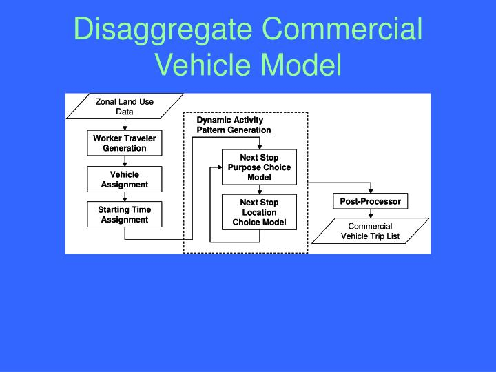 Disaggregate Commercial Vehicle Model