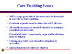 core enabling issues
