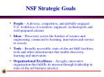 nsf strategic goals