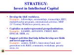 strategy invest in intellectual capital