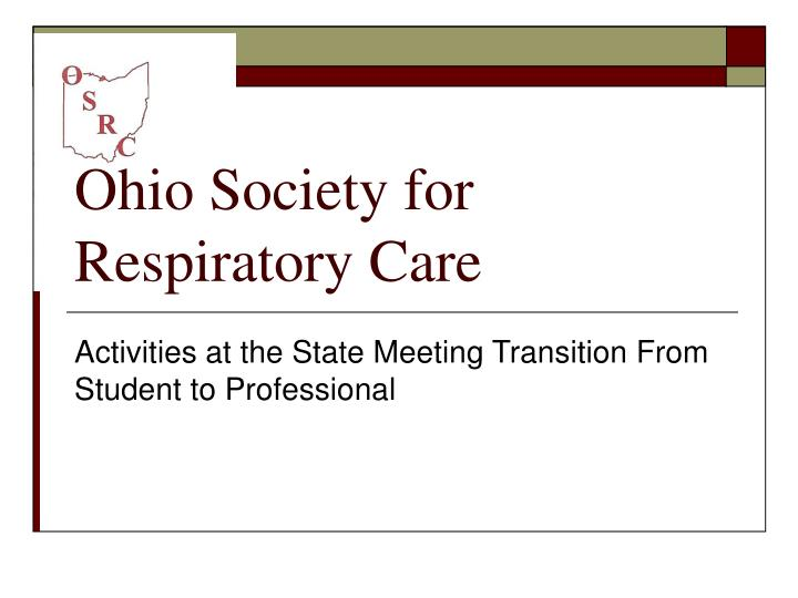 ohio society for respiratory care n.