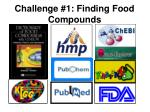 challenge 1 finding food compounds