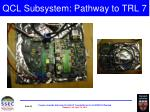 qcl subsystem pathway to trl 7