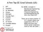 a few top ee grad schools us