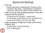 beyond the rankings