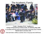 the academic family