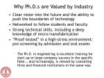 why ph d s are valued by industry