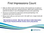 first impressions count