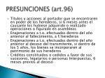 presunciones art 961