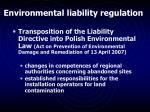 environmental liability regulation