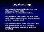 legal settings