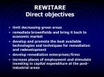 rewitare direct objectives