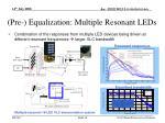pre equalization multiple resonant leds
