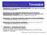 precardia study timetable