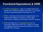 functional equivalence osri