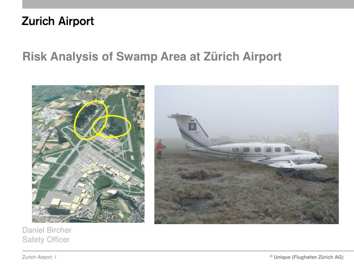 risk analysis of swamp area at z rich airport n.