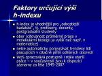 faktory ur uj c v i h indexu