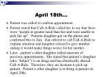 april 18th