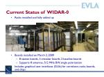current status of widar 0