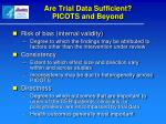 are trial data sufficient picots and beyond