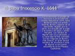 el papa inocencio x 1644